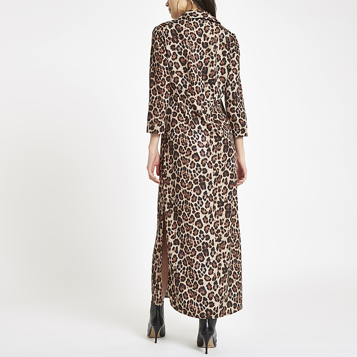 c264e4dddf Brown leopard print maxi shirt dress - Maxi Dresses - Dresses - women