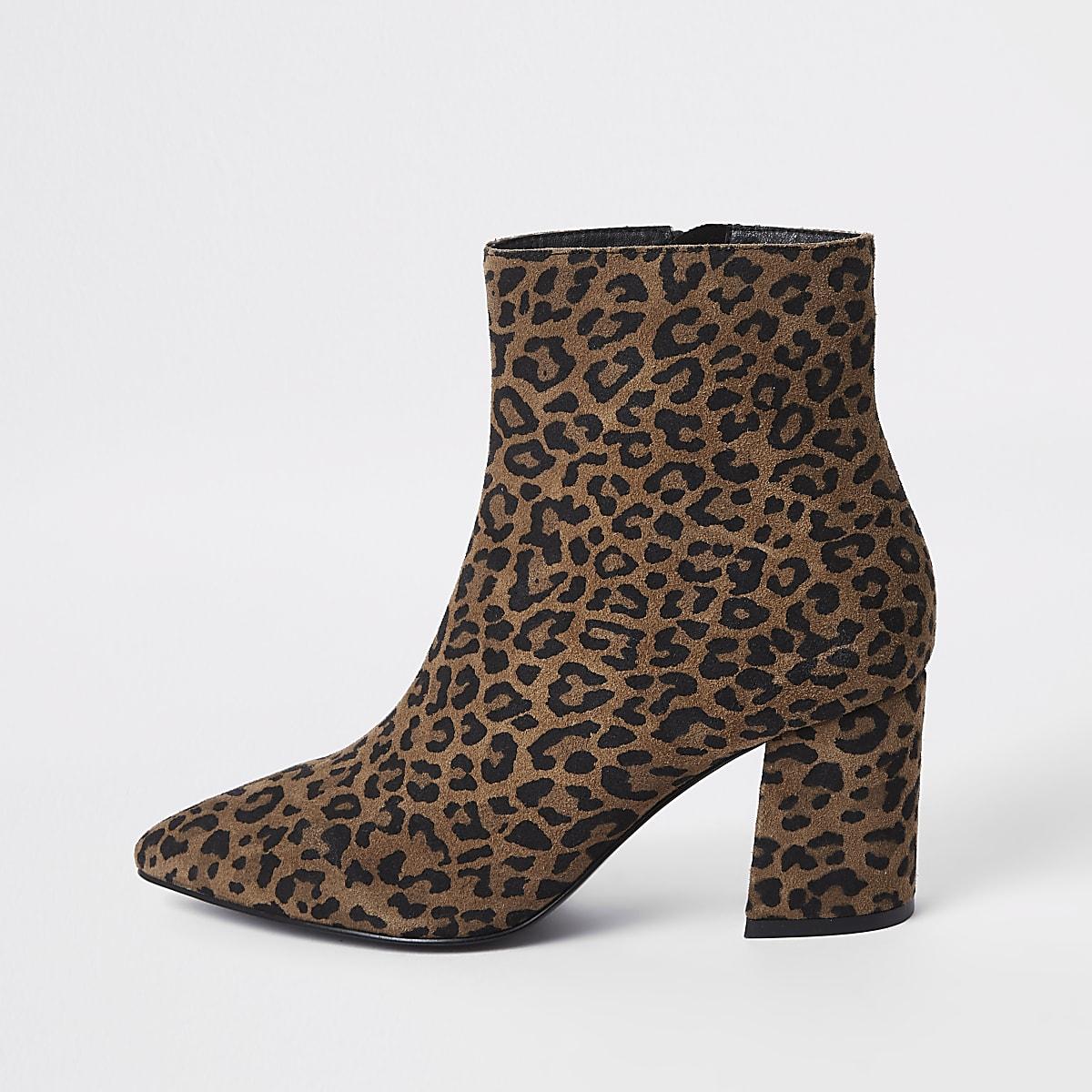 22c747d895 Brown leopard print ankle boots - Boots - Shoes & Boots - women