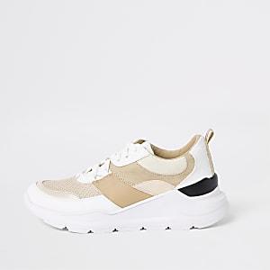 Sneaker in Creme zum Schnüren