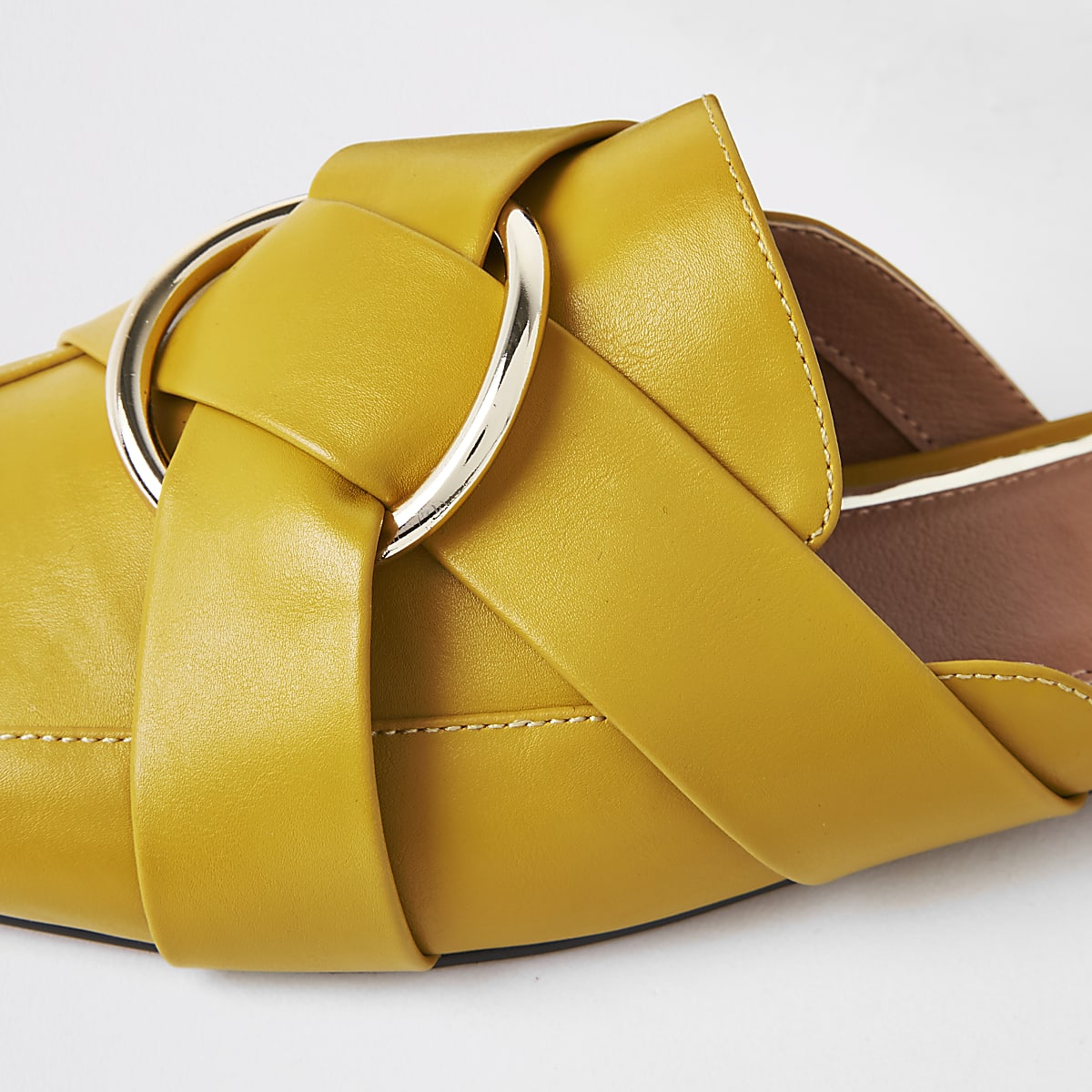 f214b0dbae1 Home · Women · Shoes   boots  Yellow ring backless loafer. Yellow ring  backless loafer ...