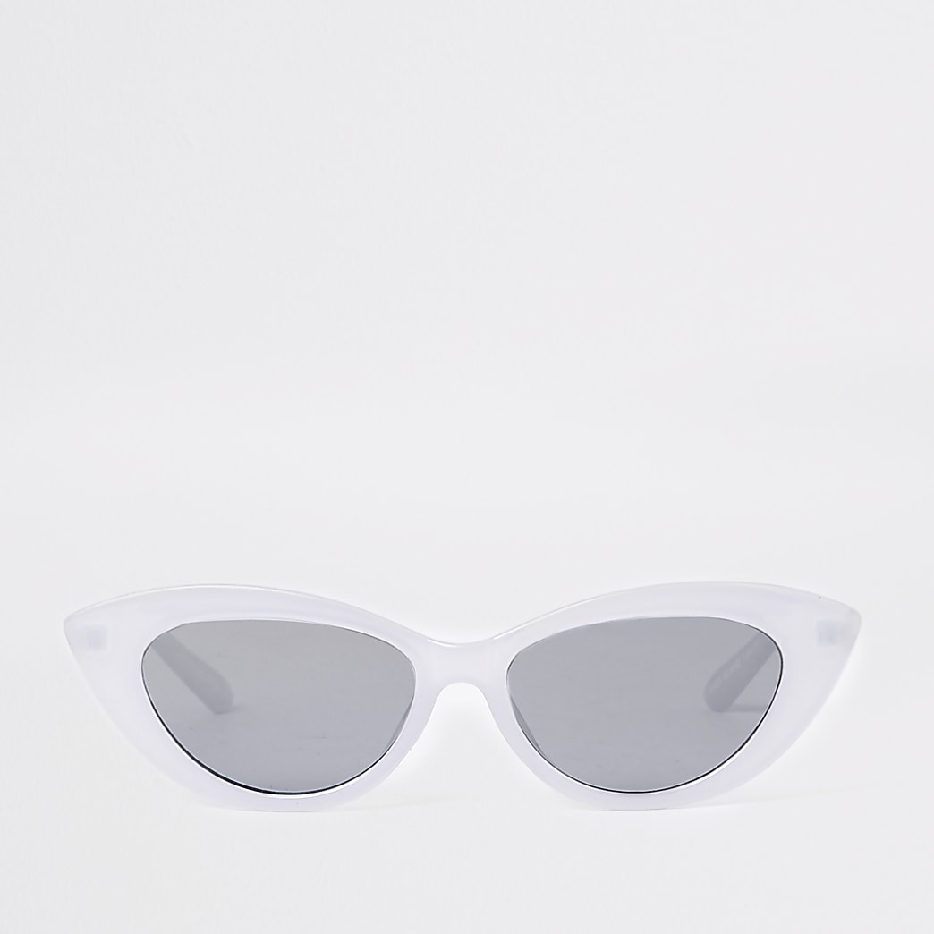 Light purple slim cat eye sunglasses