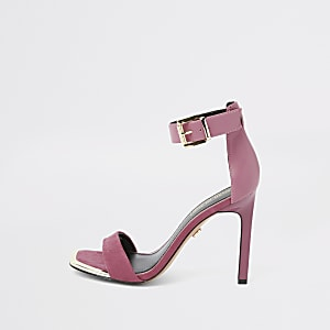 Barely There – Pinke Sandalen aus Wildlederimitat