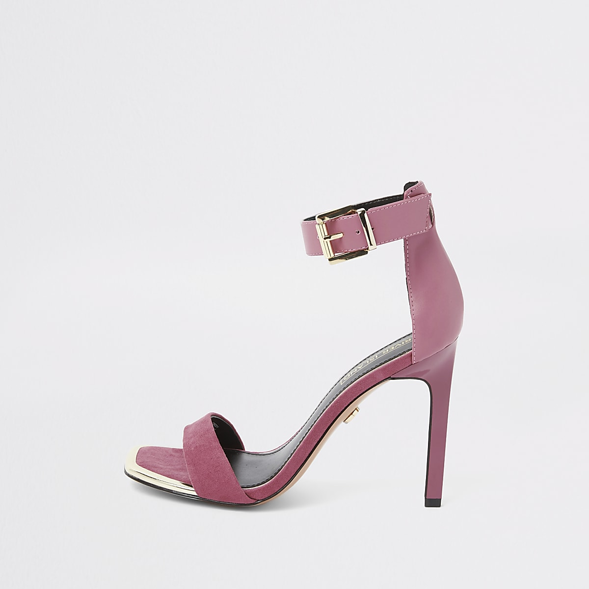 Sandales minimalistes en suédine roses