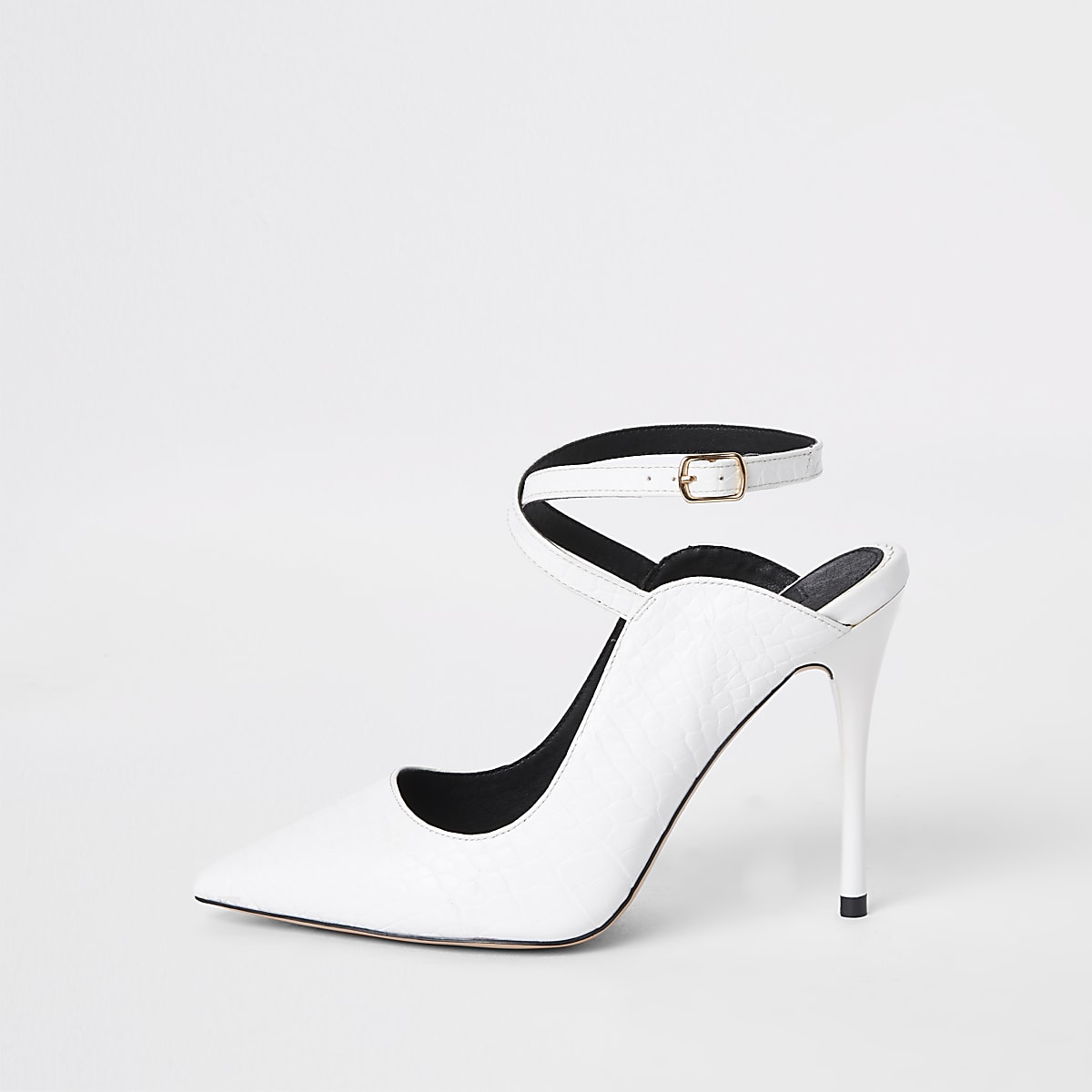 496f3f17ffd1 White ankle strap Wide fit court shoes - Shoes - Shoes   Boots - women