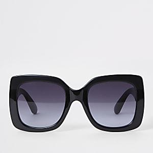 Schwarze Oversize-Sonnenbrille