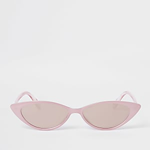 f8113fabbc8 Pink slim cat eye sunglasses