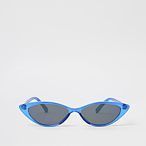 Blaue Katzenaugen-Sonnenbrille