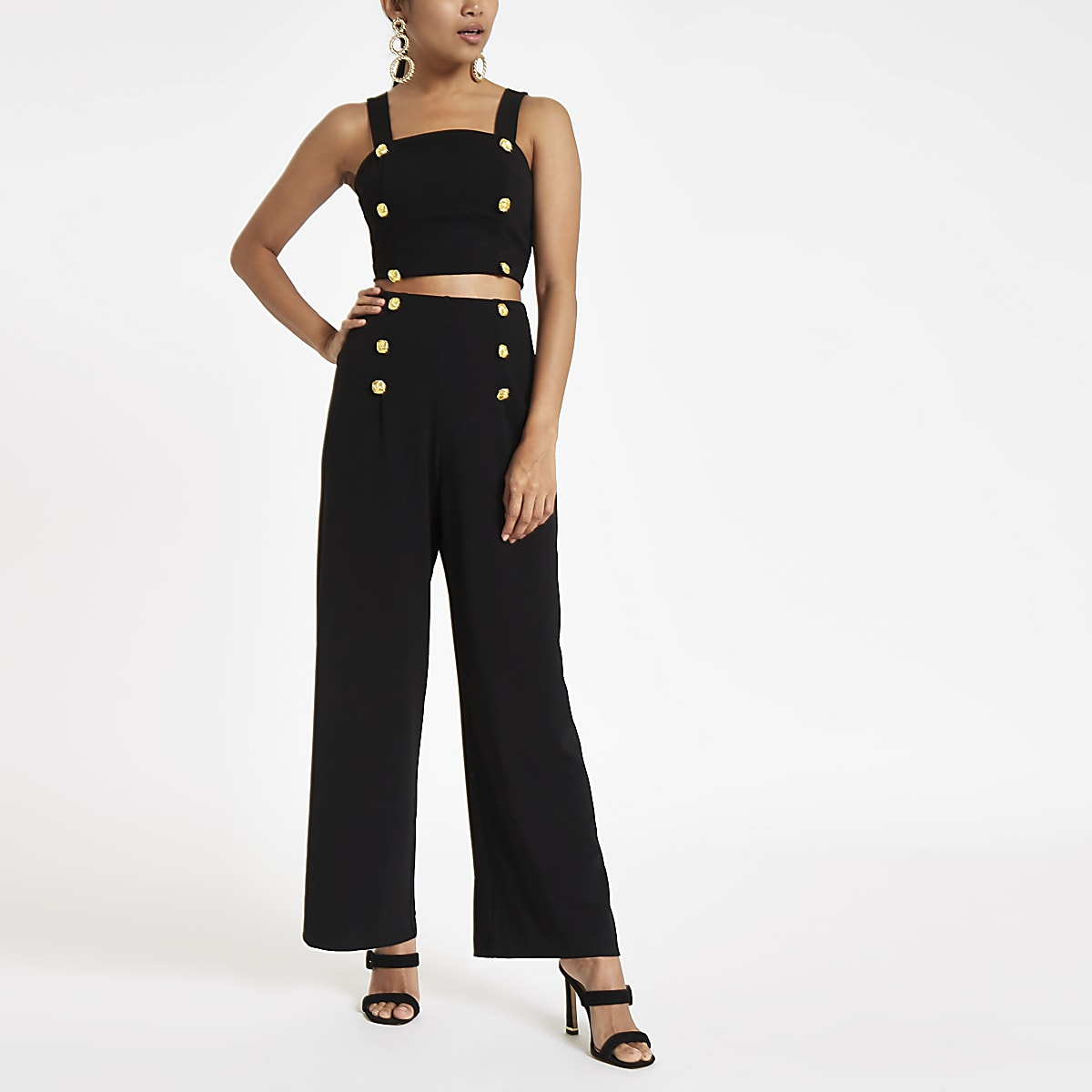 8aa41092f2b5e7 High Waisted Wide Leg Dress Pants Petite
