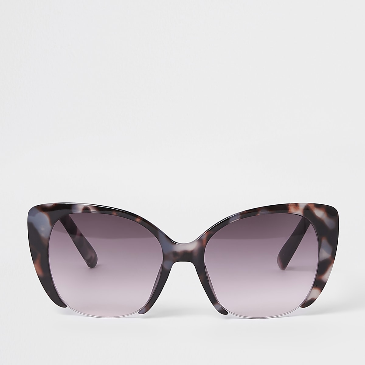 Brown tortoise shell pink lens sunglasses