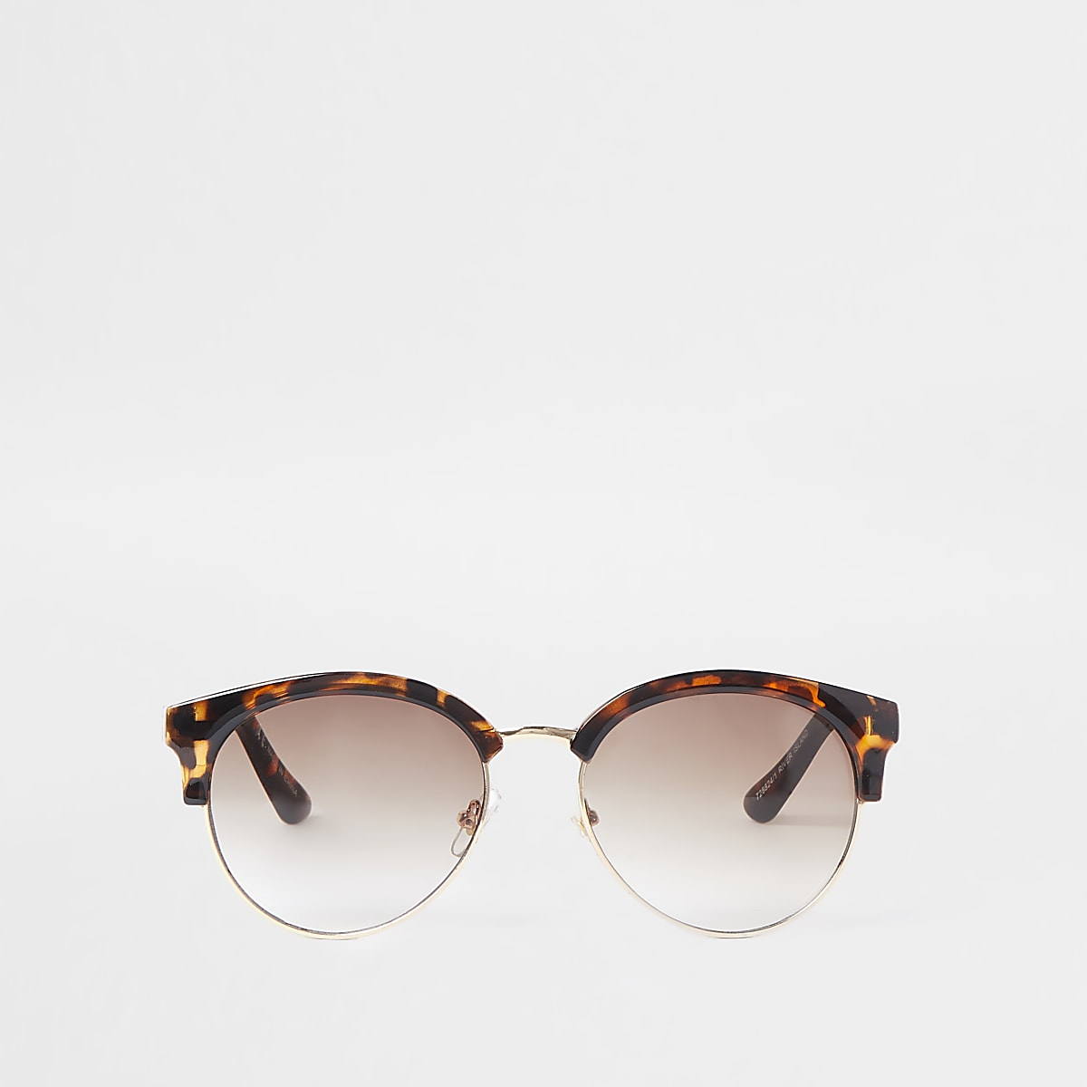 9a44dd09b5b6 Brown tortoiseshell chain trim sunglasses - Retro Sunglasses - Sunglasses -  women