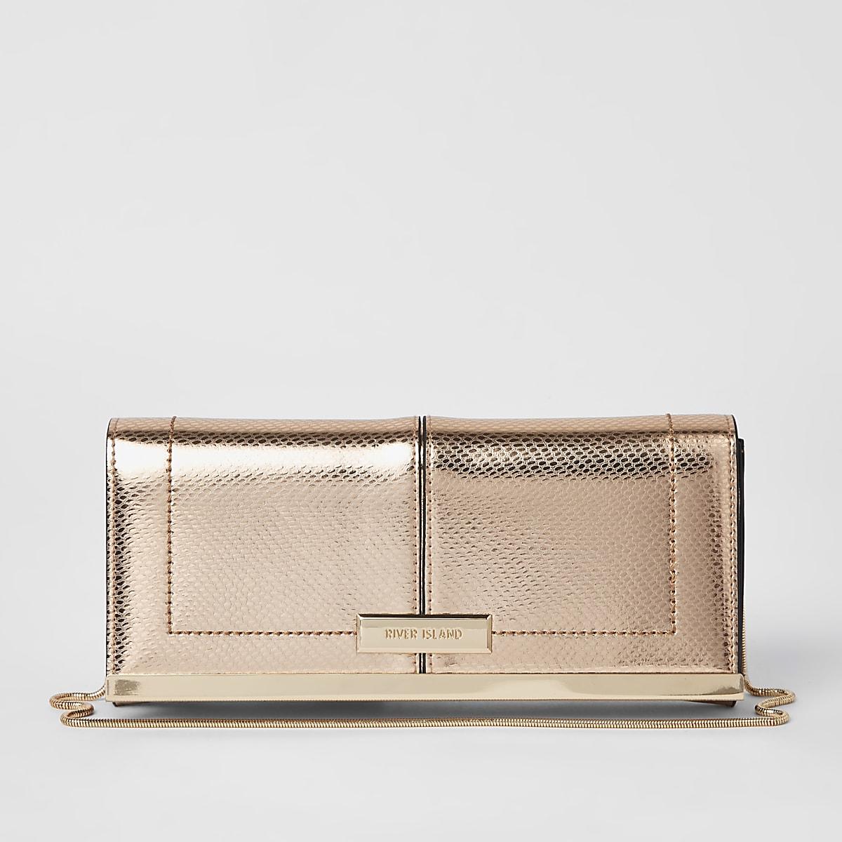 90c48b3b77 Rose gold baguette clutch bag - Clutch Bags - Bags & Purses - women