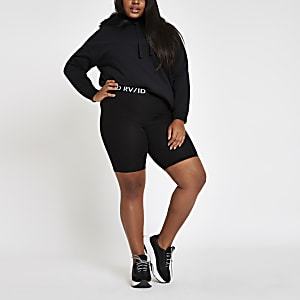 Plus black RI cycling shorts