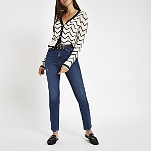 Dunkelblaue Original Skinny Fit Jeans