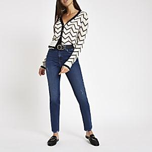 Original - Donkerblauwe skinny-fit denim jeans