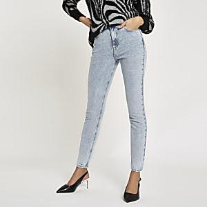 Light blue Original skinny fit rigid jeans