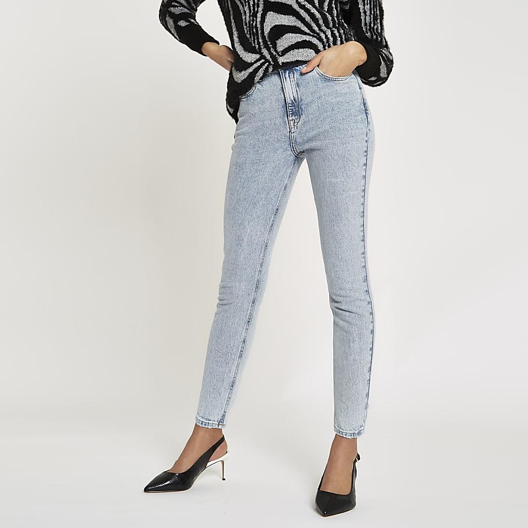 Original - Lichtblauwe skinny-fit rigid jeans