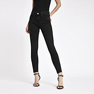 Black Amelie super skinny jeans