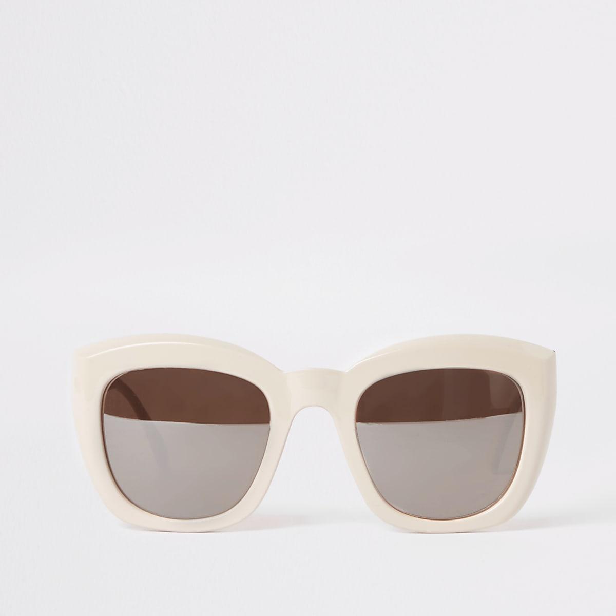 Beige, glamouröse Sonnenbrille