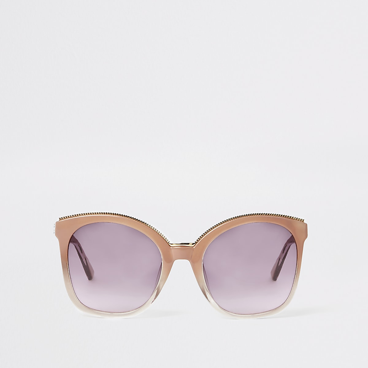 Pink oversized glam sunglasses