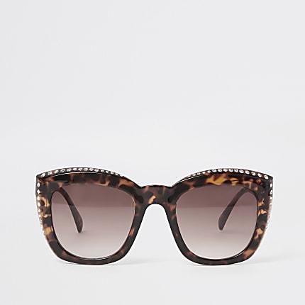 fed2df9e7b2 Quick view. Add to wishlist. £16.00. Brown tortoiseshell diamante sunglasses