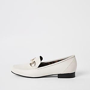 Weiße Loafer aus Leder