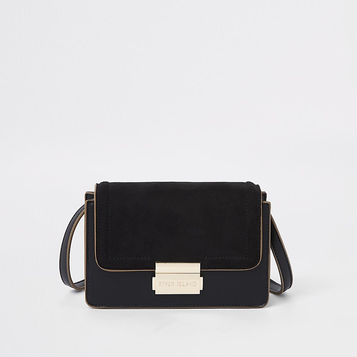 Mini sac à bandoulière noir contrasté