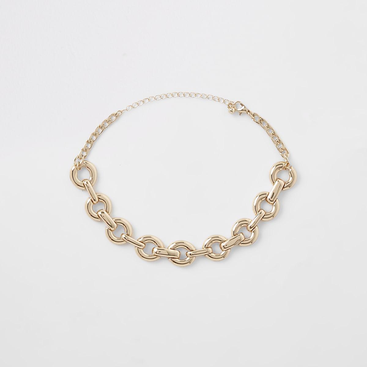 Gold colour chunky chain choker