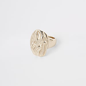 Gold color chunky ring