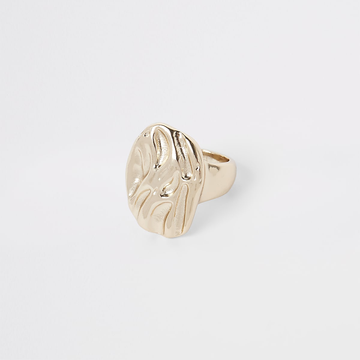 Gold colour chunky ring