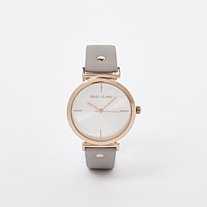 Grey rose gold color RI face watch
