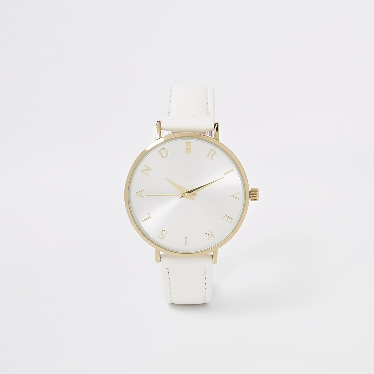 White gold colour RI face watch