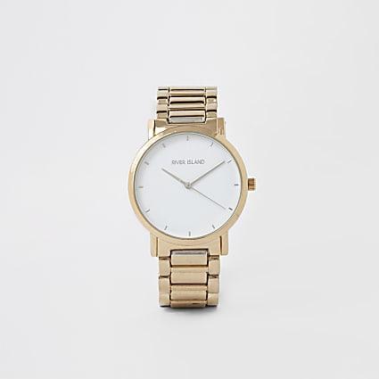 Gold colour bracelet watch