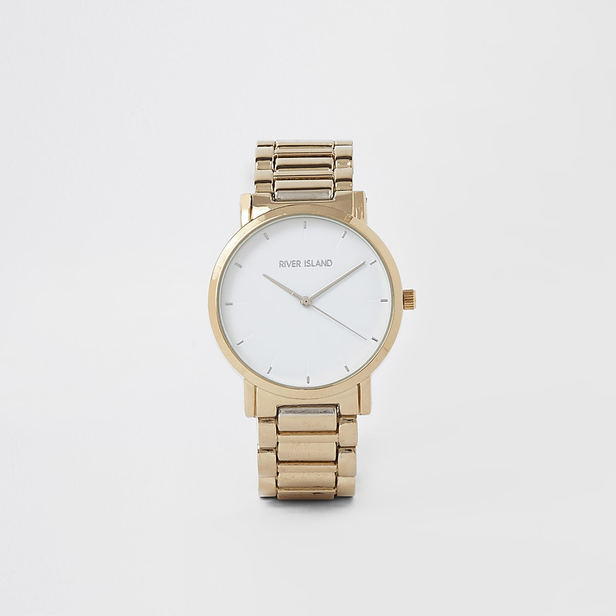 Gold colour bracelet watch