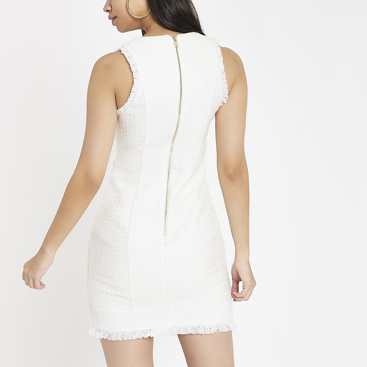 68c62ae0cfe White boucle mini bodycon dress - Bodycon Dresses - Dresses - women