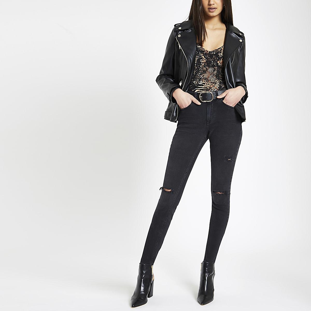 Black Alannah ripped skinny jeans