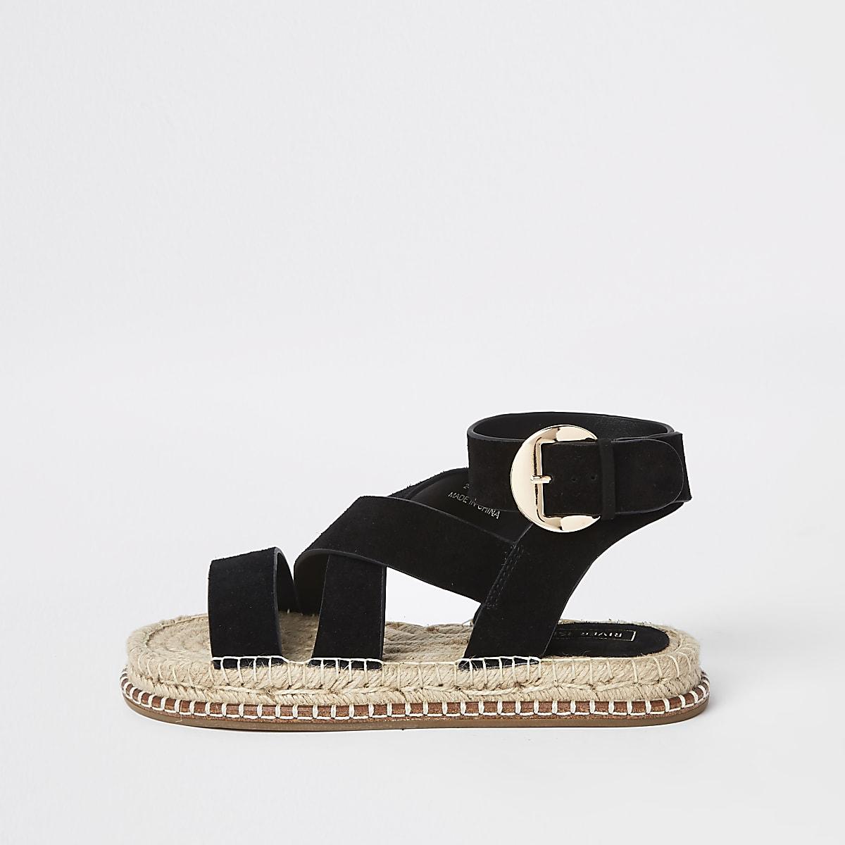 Black Sandals Black Sandals Espadrille Black Suede Espadrille Suede Suede Espadrille n0wmOvN8