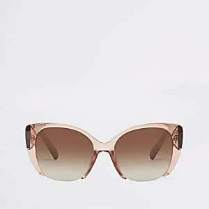 d4adcab3b26 Beige cat eye sunglasses