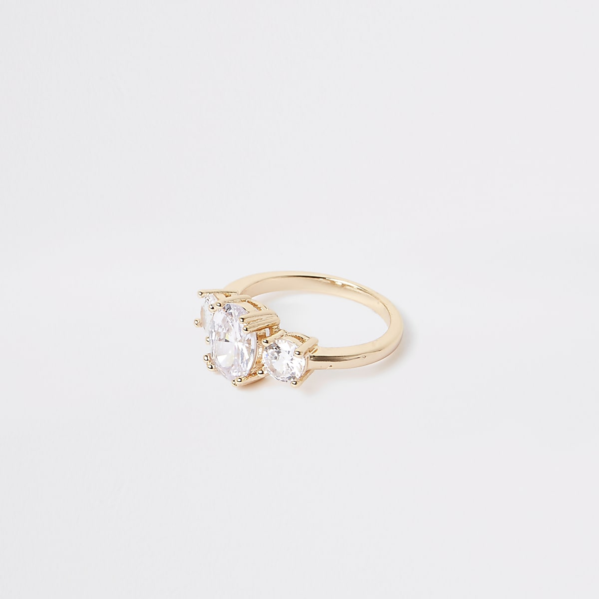 Gold colour cubic zirconia ring