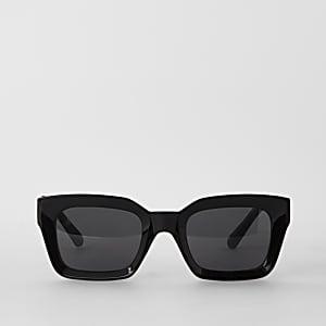 Lunettes de soleil glamour noires à verres fumés
