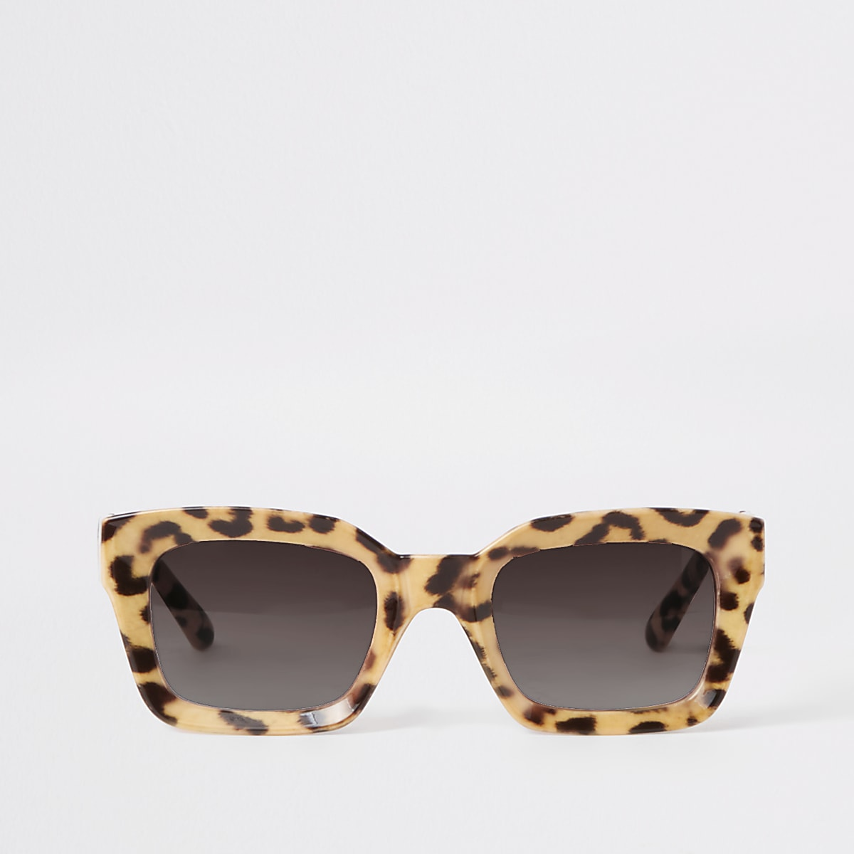 Brown leopard print glam sunglasses