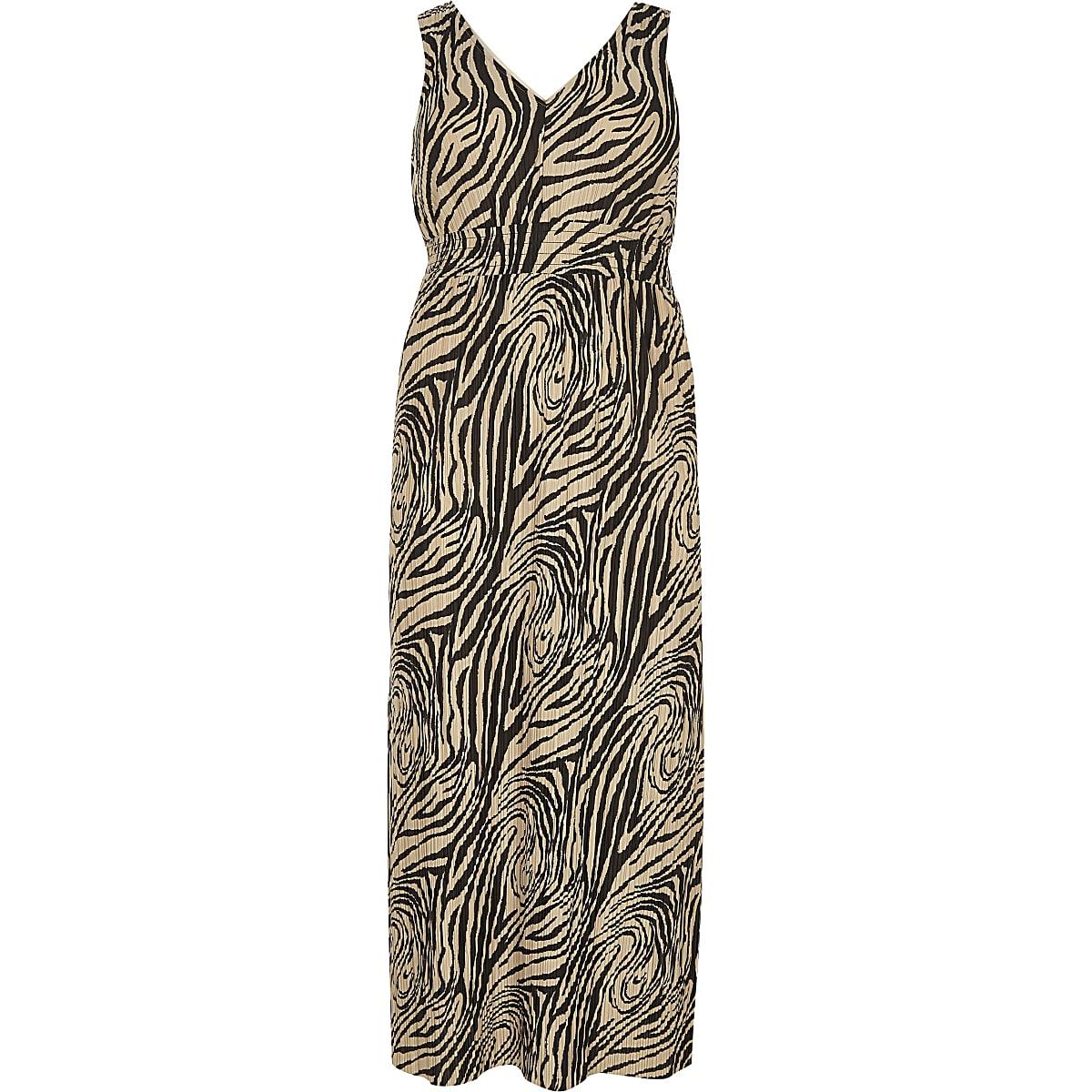 60911d7293 Plus black zebra print maxi dress - Maxi Dresses - Dresses - women
