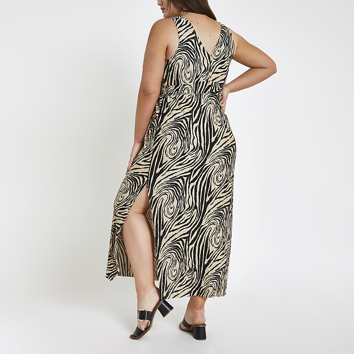 5917774c0b1 Plus black zebra print maxi dress - Maxi Dresses - Dresses - women