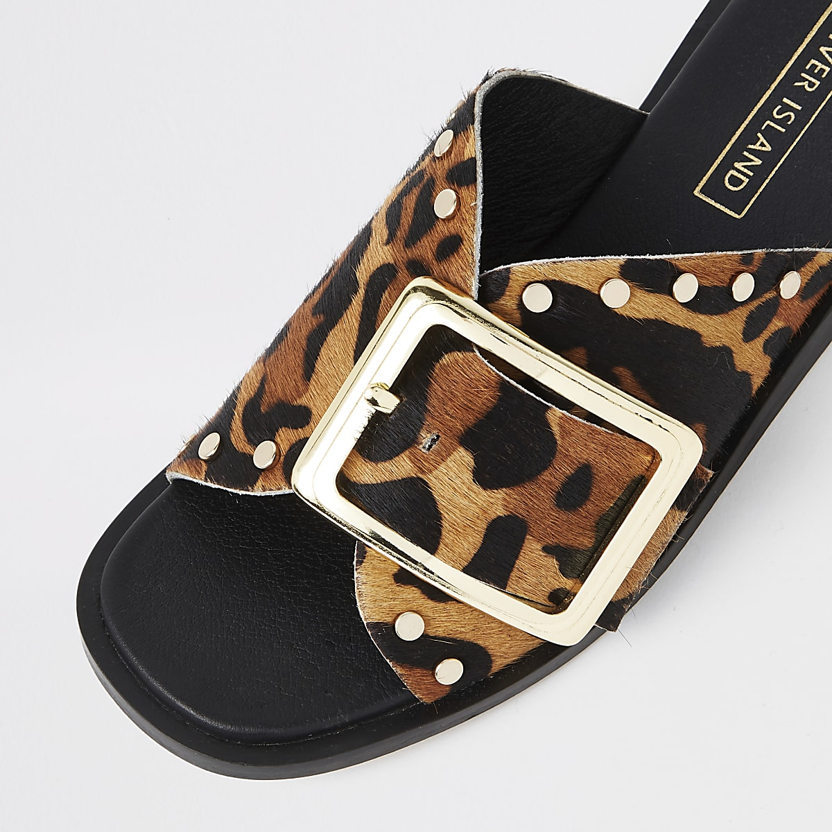e733af8beaef Brown leopard print mules - Sandals - Shoes & Boots - women