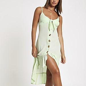 Hellgrünes Strandkleid