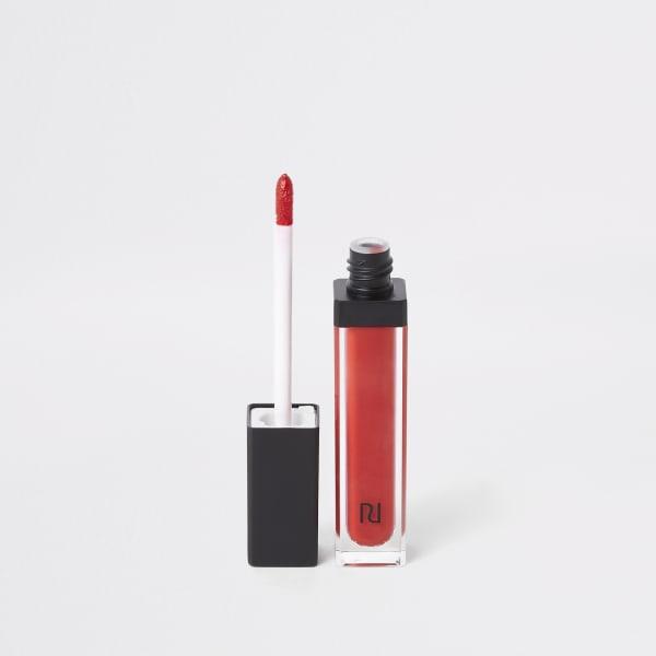 River Island - primal – rouge à lèvres liquide rouge - 3