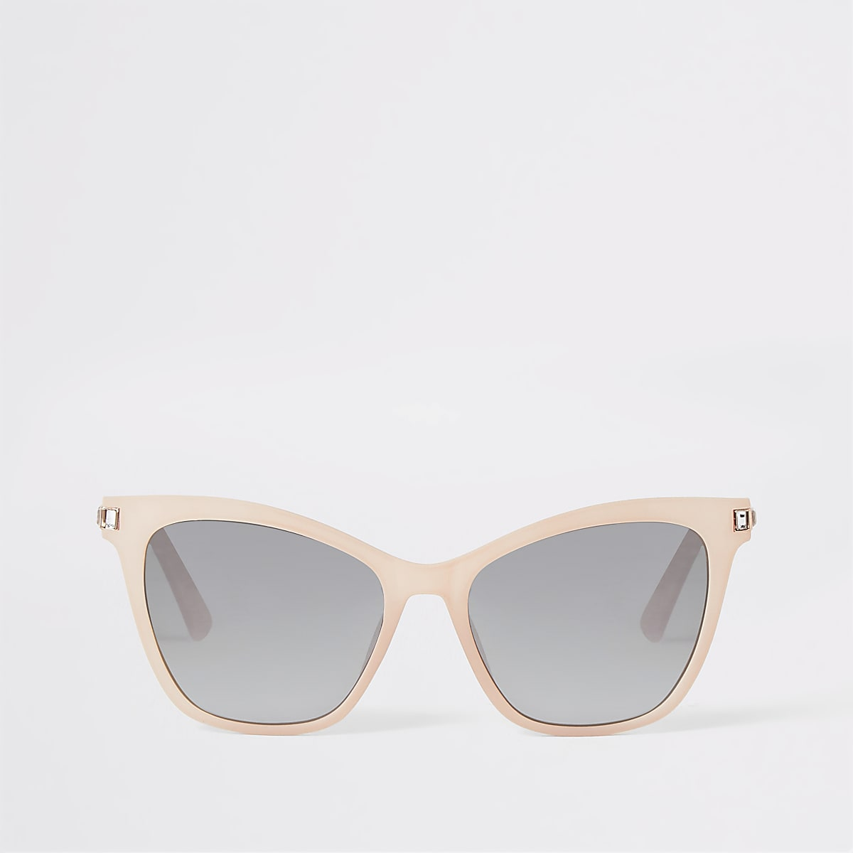 Pink diamante trim sunglasses