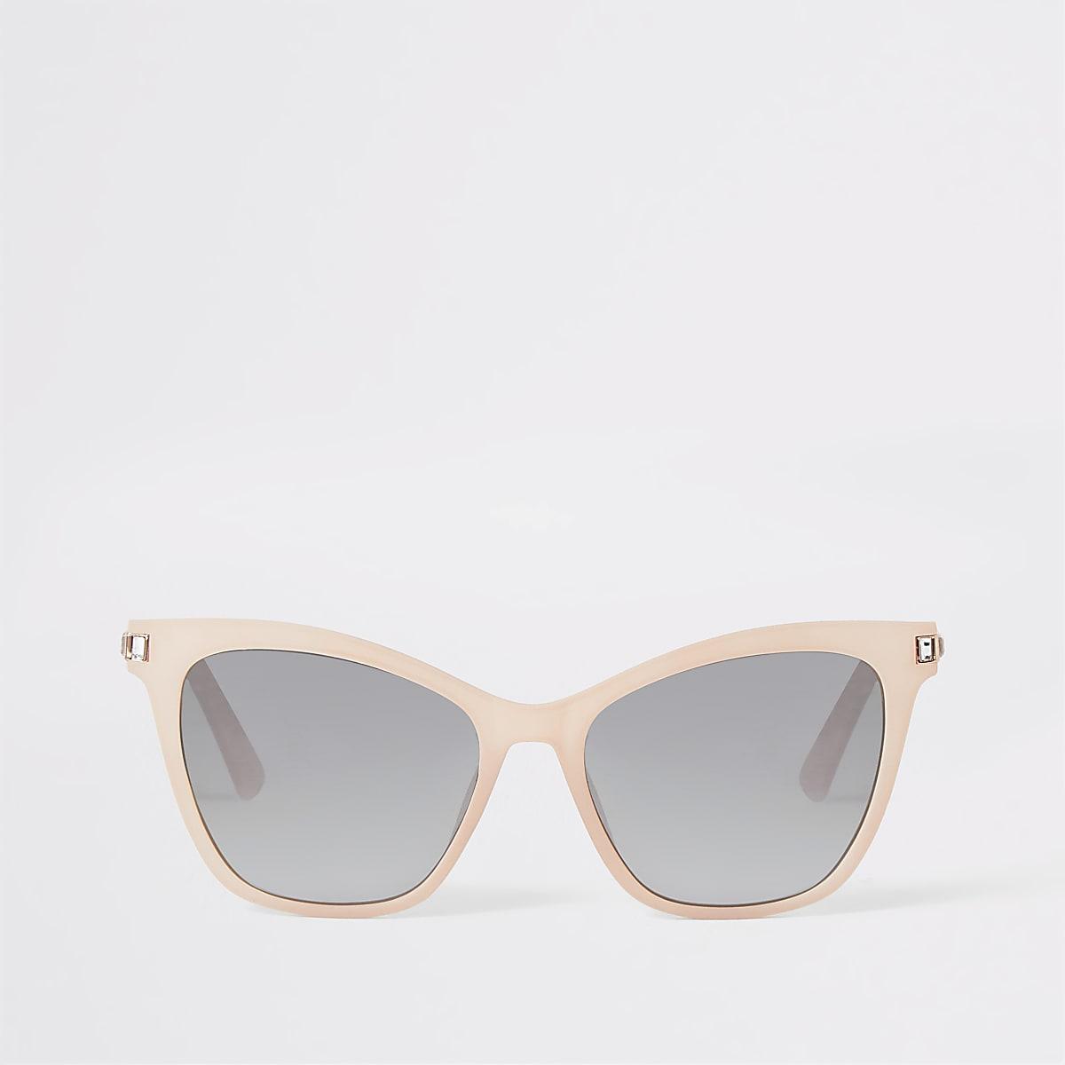 Pinke Sonnenbrille mit Strassverzierung