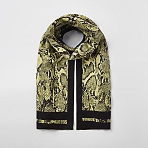 Gelber Schal mit Print