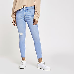 Petite blue Molly mid rise jeggings