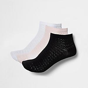 Multicolored sneaker socks multipack